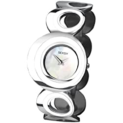 Seksy by Sekonda Women's Quartz Watch with Mother of Pearl Dial Analogue Display and Silver Stainless Steel Bracelet 4578.37