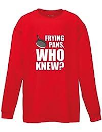 Brand88 Frying Pans, Who Knew?, Kids Long Sleeve Tee Shirt