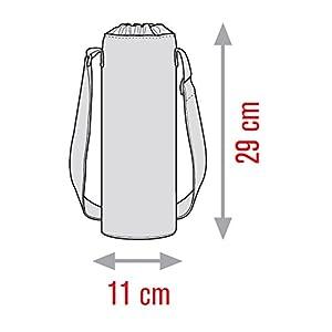 Meliconi Coca Cola Porta Bottiglie Termico 1,5 Lt, 600D Pu, Rosso/Bianco, 11x11x29 cm