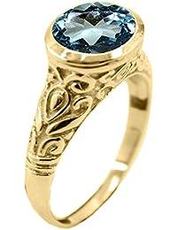 a4f3f7aab8e7 Jewelryonclick - Anillos chapados en Oro con Piedras Preciosas Naturales  para Hombre en tamaño H-Z