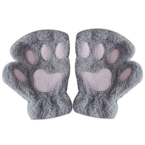 h-Tatzen-Greifer-Handschuh Neuheit Halloween weiche Frottier Halb Covered Frauen Handschuhe Fingerlose Handschuhe ()
