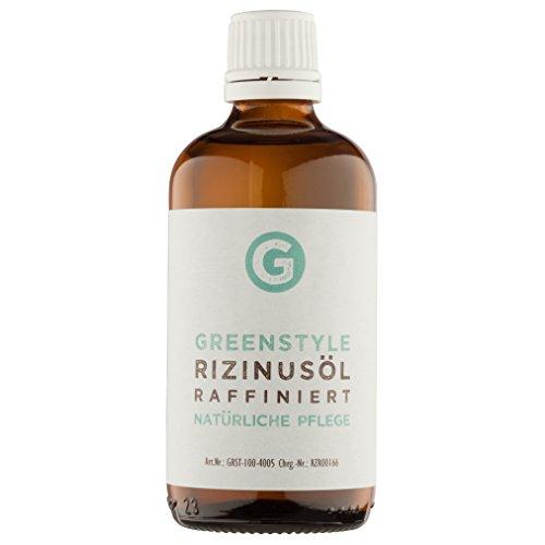 Rizinusöl 100ml - reines Öl zur Haut- und Haarpflege von greenstyle