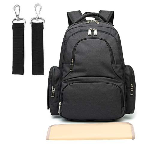 3da15938dd Lamdoo Baby Diaper Bag Smart Organizer Waterproof Travel Backpack with  Changing Pad Stroller Clips Black
