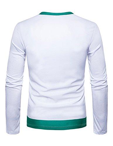 Boom Fashion Mega Stylisches Weihnachts-Geschenke-Langarm-Fun-Tshirt für Herren Farbe 1