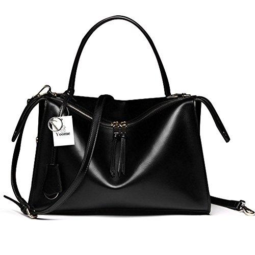 Borse in vera pelle di Yoome borse da donna Borse a tracolla borse a tracolla per borse da donna - blu Nero