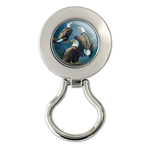 Bald Eagle Baum Top Gathering magnetisch Metall Schlüsselanhängerform ID Badge Holder