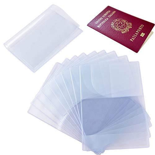 10pz custodia protettiva passaporto porta trasparente plastica (b)