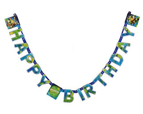 py Birthday Banner 2,31 m - Teenage Mutant Ninja ()
