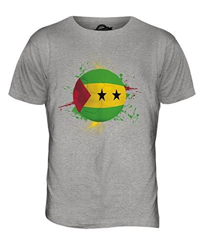 CandyMix São Tomé Und Príncipe Fußball Herren T Shirt Grau Meliert