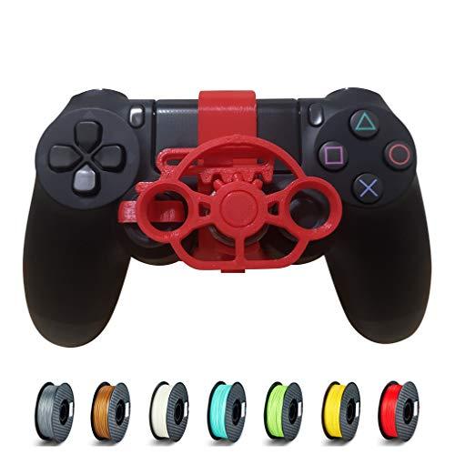 PS4 Mini-Lenkrad, PS4-Controller, Ersatzzubehör für alle PS4-Rennspiele rot