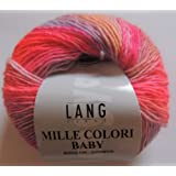 lang yarns mille colori baby 190 m50g col 61 mouchet - Laine Lang Mille Colori Baby