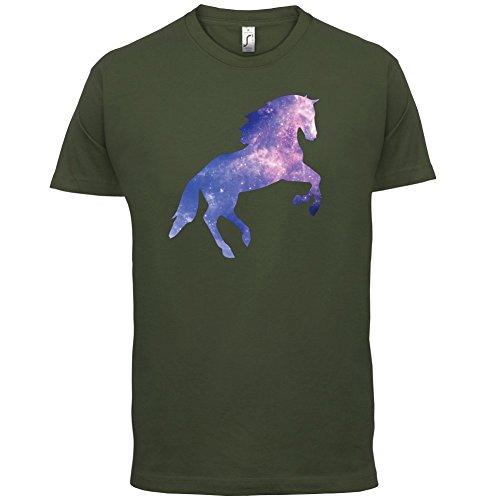 Galaxis Pferd - Herren T-Shirt - 13 Farben Olivgrün