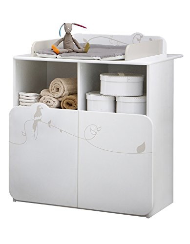 Demeyere 316202 Jungle Commode Table Lange - Blanc/Beige - 87 x 73 x 101 cm