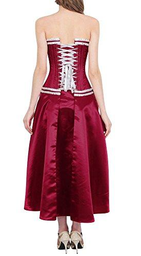 Robe corset satin bordeau rouge vin élégant burlesque vintage pinup Rouge