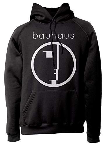 LaMAGLIERIA Unisex-Hoodie Bauhaus- Kapuzenpullover, L, schwarz
