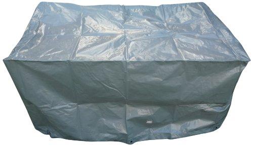 Chalet et Jardin B125*70*70-90-S Housse de Protection pour Barbecue de Jardin TITANIUM® Argent 125 x 70 x 70 cm