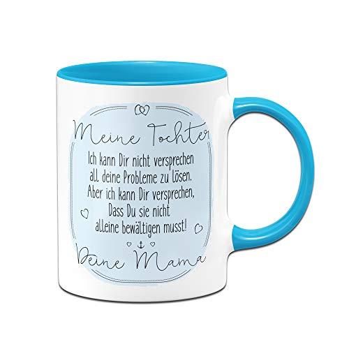 Tassenbrennerei Tasse mit Spruch für Tochter von Mama - Geschenke von Mutter für Tochter, Tassen mit Sprüchen (Blau)