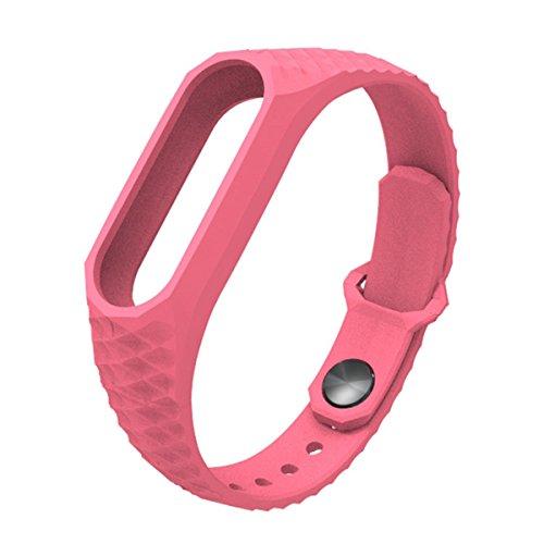 Pulsera Mi Band 2,Correa Mi Band 2 La Smart Band 2 de Xiaomi 3D de Moda Smart Watch Strap Correa para Miband2(Sin Rastreador de Actividad)(Rosa)
