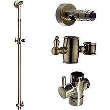 ENKI columna elevadora telescópica para ducha redonda latón bronce