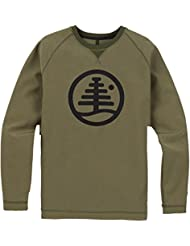 Burton Bonded Crew, Felpa Uomo, Dusty Olive Heather, M