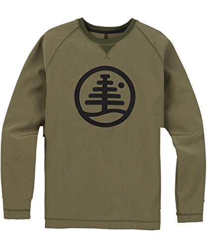 Burton Herren Bonded Crew Sweatshirt, Dusty Olive Heather, L -