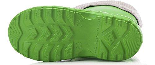 Ladeheid EVA Thermo Bottes de Pluie Enfant LA-861 Vert375c/Gris
