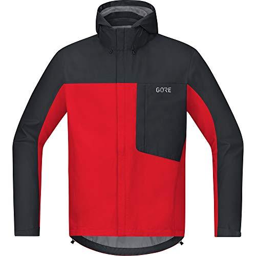 GORE Wear C3 Herren Kapuzenjacke GORE-TEX, XL, Rot/Schwarz