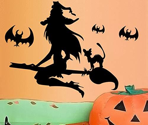 Kreative Halloween Hexe Wandaufkleber Pvc Abnehmbare Art Room Haunted Aufkleber Dekor Für Zuhause Wohnzimmer (Halloween Whiteboard Ideen)