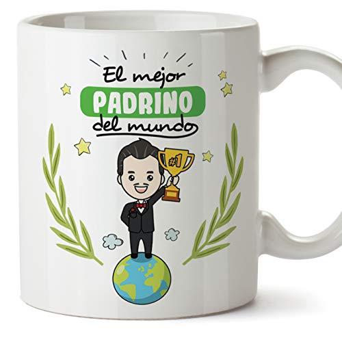 MUGFFINS Padrino Tazas Originales de café y Desayuno para Regalar a P