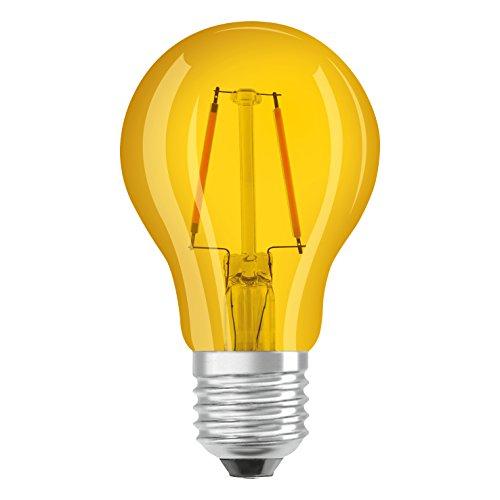 Osram LED Star Classic A Décor Yellow Lampe, in Kolbenform mit E27-Sockel, Dekoratives gelbes Licht und Design, Ersetzt 15 Watt, 1er-Pack