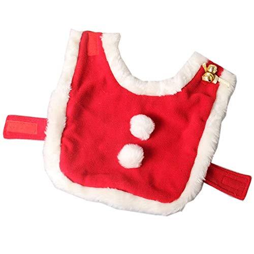 he Haustierkleidung Katze Weihnachtskostüm, verstellbare Haustier Katze Santa Kleidung Mantel mit Glocken, Welpen und Katze Weihnachten Claus Party Bekleidung Cape für kleine Hunde ()