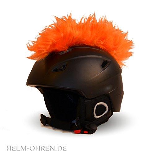 Helm-Irokese für den Skihelm, Snowboardhelm, Kinderskihelm, Kinderhelm, Motorradhelm oder Fahrradhelm - - Der HINGUCKER - Der etwas auffälligere Helm-Aufkleber - für Kinder und Erwachsene HELMDEKO (Orange)