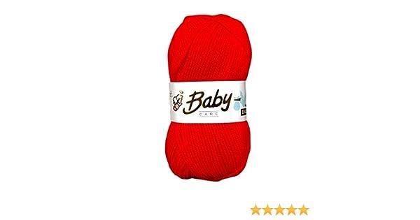 5 x 100g Woolcraft Babycare Baby Yarn  Wool  DK Double Knit Rouge
