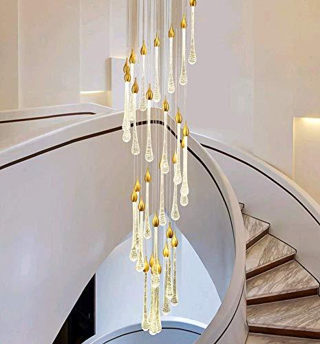 ONLT LED Pendelleuchte,25 Köpfe Moderne Pendellampe Kristall Hängeleuchte Höheverstellbar Kronleuchter,Drehbar-Treppenleuchte Wohnzimmerlampe Schlafzimmerlampe Flurlampe