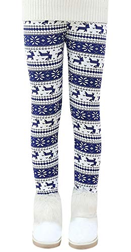 Dihope Kinder Mädchen Winter Thermo Leggings Slim Fit Warm Leggins Dicke Fleece Hosen Strumpfhosen mit Innenfutter