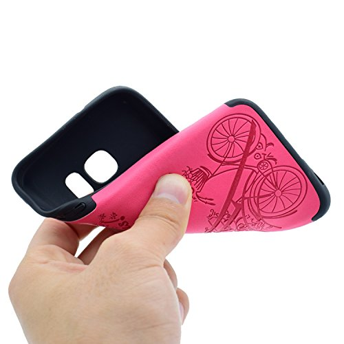 inShang Coque Samsung Galaxy S7 Housse Etui Plastique Case ductile TPU Rose tower