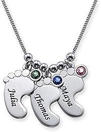 5db1df18c097 XMDNYE Colgante del pie del bebé Collar Exquisito Cristal Collares Joyas  Mejor Regalo Puede ser por