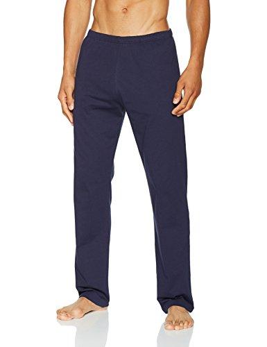 HUBER Herren Zweiteiliger Schlafanzug Hr. Pyjama Lg. Offen Elemental Men Braun (Thristle 018250)