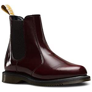 Dr. Martens Vegan Flora 24179001 Damen Black Felix Rub Off Schwarz Chelsea Boot