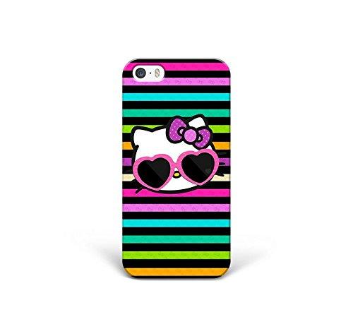 Appfix Cases Schutzhülle für iPhone 5 / 5S / iPhone SE (Hartschale, personalisierbar, modisches Design), Design Hello Kitty Brille