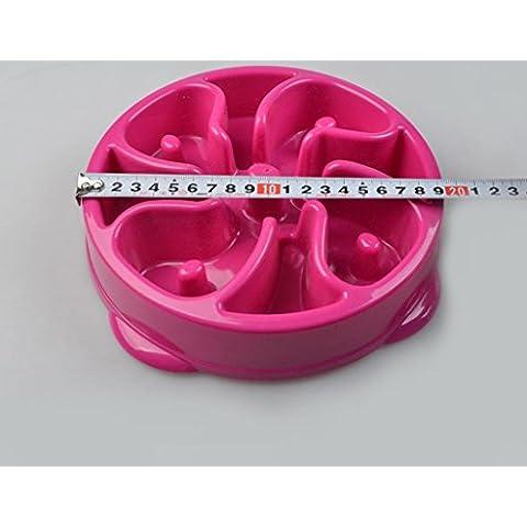 lumaca petfood ciotola durevole anti-soffocamento non scivola lento cibo plastica