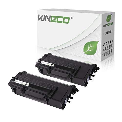 2 Kineco Toner kompatibel für Brother TN-3480 für Brother HL-L6300DW HL-L-L5100DNTT HL-L5000D HL-L5100DN HL-L5100DNT -