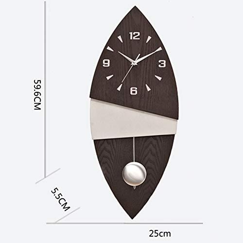 BGGZXX 9 Pulgadas Reloj De Pared Vintage Reloj Silencioso, Creativo Oscilación Estudio del Dormitorio De La Sala De Estar