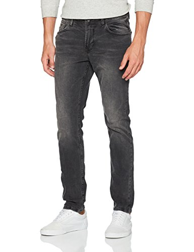 TOM TAILOR DENIM Herren Jeans Skinny Culver Black Washed, Schwarz (Dark Stone Black Denim 1299), W32/L32 (Herstellergröße: 32)