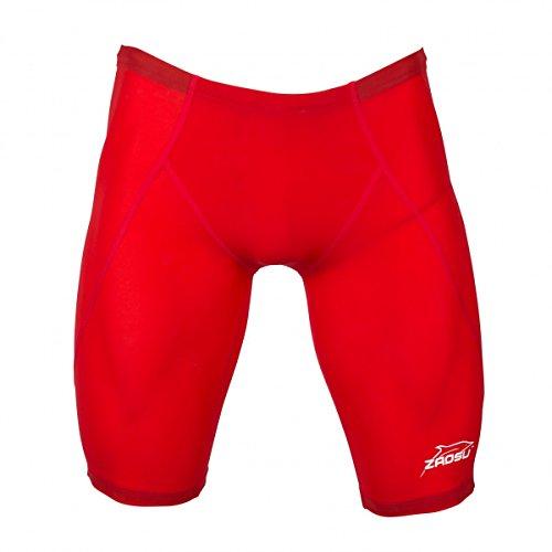 ZAOSU Wettkampf-Schwimmhose Jammer Z-SPEED für Herren und Jungen, Farbe:rot, Größe:6