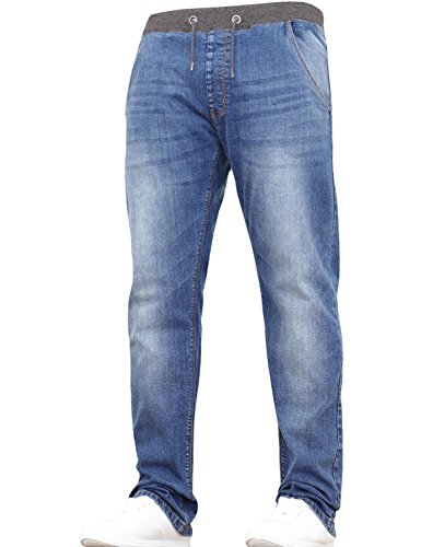 New Boys Kids Designer Branded Stretch Slim Fit Denim Elasticated Waist Jogger Pull On Jeans Pants