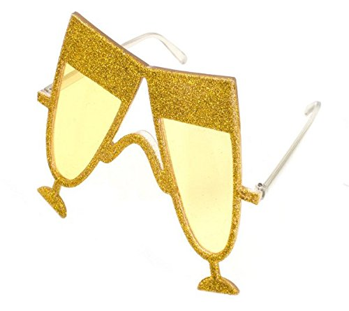 Folat Champagner Glas Party Brille - Gold