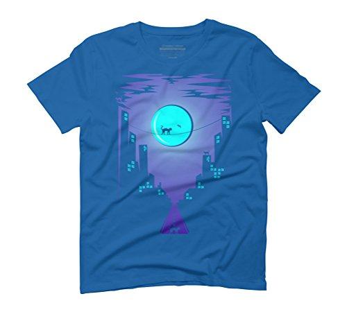 cats & the city Men's Graphic T-Shirt - Design By Humans Royal Blue