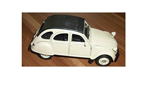 Citroen 2CV 1962 Spritzguß Ente die Kultige ENTE Modell-Auto CITROEN 2CV 1:38 WELLY Cabrio oder Geschlossen in verschiedenen Farben (beige geschlossen) - Citroen Modell