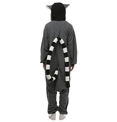 Imagen de cuteon animal carnaval disfraz cosplay pijamas adultos unisex mamelucos homewear ropa de noche lémur small alternativa